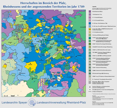 Landesarchivverwaltung Rheinland Pfalz Karte Der Herrschaften Im